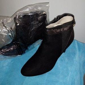 Karen Scott Black Suede Ankle Boots